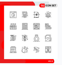 16 outline concept for websites mobile and apps vector