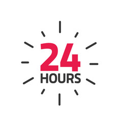 24 hours icon banner all day vector image