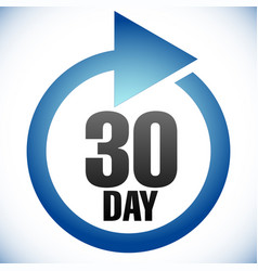 30 day turnaround time tat icon interval for vector