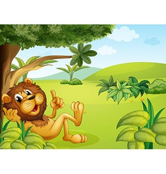 A lion taking a rest vector image