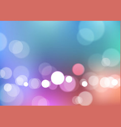 Abstract bokeh lights with blurred colors vector