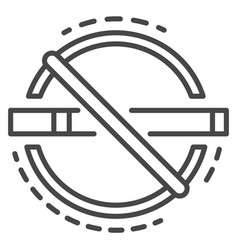 abstract no smoking icon outline style vector image