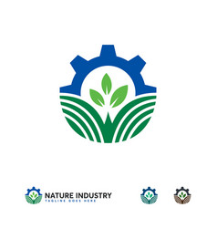 Agriculture industry logo designs nature vector