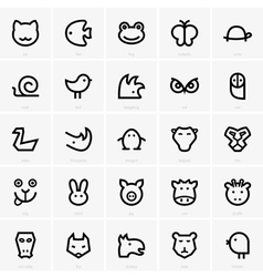 Animals icons vector