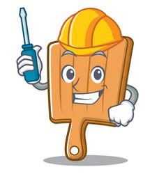 automotive kitchen board character cartoon vector image vector image