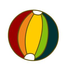 ball beach design template vector image