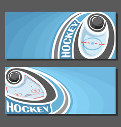 banners for ice hockey vector image