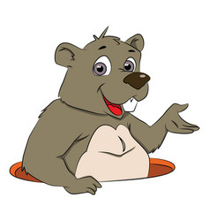 Bear gesturing vector