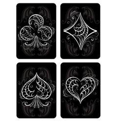 Black playing cards vector