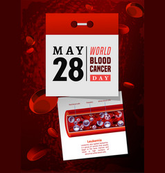 Blood cancer day vector