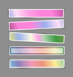 bright banner paper stickers with shadows vector image