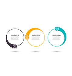 business infographic circle label design template vector image