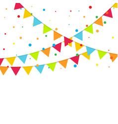 Carnival garland with flags vector