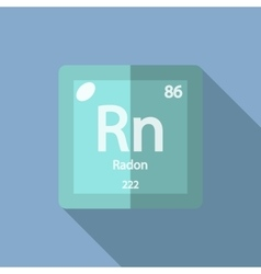 Chemical element Radon Flat vector image