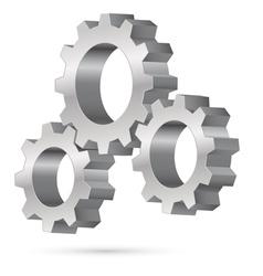 Chrome gearwheel vector