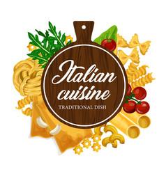 Cooking italian pasta at homemade kitchen vector