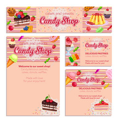 Corporate style template with confectionery vector