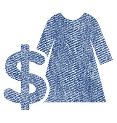dress price fabric textured icon vector image
