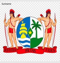 Emblem suriname vector