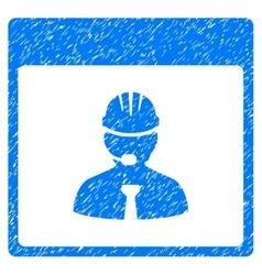 Engineer Calendar Day Grainy Texture Icon vector image