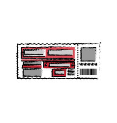 entrance ticket paper vector image
