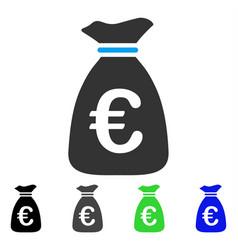 Euro money bag flat icon vector