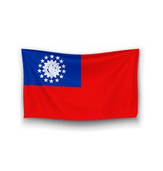 Flag myanmar vector