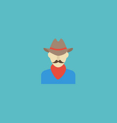 Flat icon cowboy element of vector