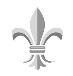 Fleur de lis - heraldic symbol of french royal vector