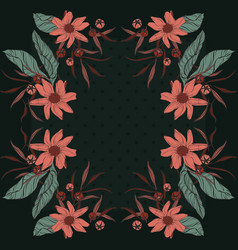 floral bloom rectangle design scarf repetiotion vector image