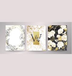 Floral frame design wedding invitation vector