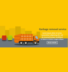 garbage removal service banner horizontal concept vector image