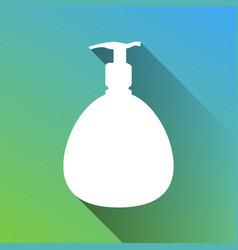 Gel foam liquid soap dispenser pump plastic vector