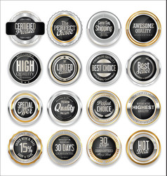 Gold and silver sale labels luxury collection 4 vector