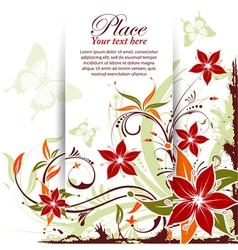 Grunge decorative floral frame vector