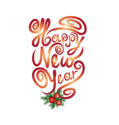 Happy new year greting card christmas sign vector
