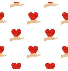 Heart logo flat style vector
