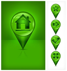 House location pin vector