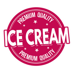 Ice cream label or stamp vector