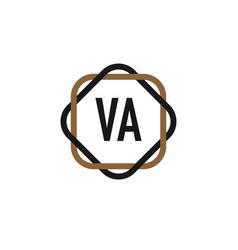 initial letter va elegance logo design template vector image