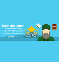 Islam and koran banner horizontal concept vector