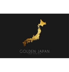 Japan map Japan logo Creative Japan logo design vector