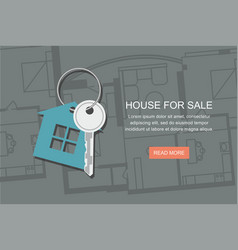 Key with symbol of house project architect plan vector