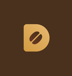 Letter d coffee logo icon design template elements vector