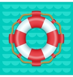 Lifebuoy cartoon style color icon vector