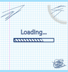 Loading line sketch icon isolated on white vector