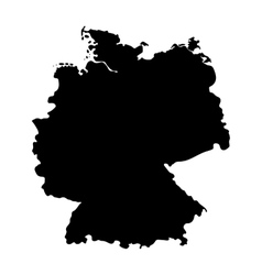 map germany isolated on white background vector image