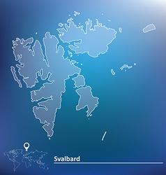 Map of Svalbard vector