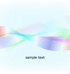 multicolored waves vector image