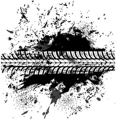 Offroad tyre print grunge spot tire trace vector